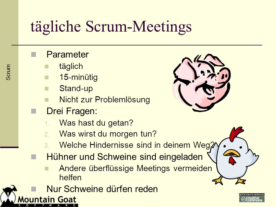 tägliche Scrum-Meetings