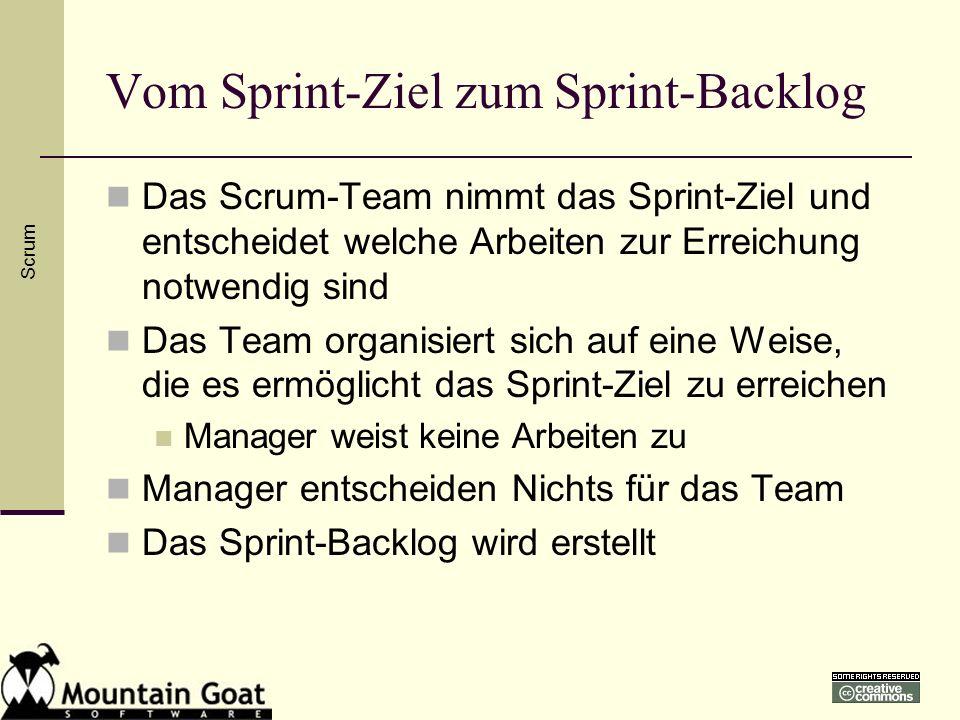 Vom Sprint-Ziel zum Sprint-Backlog