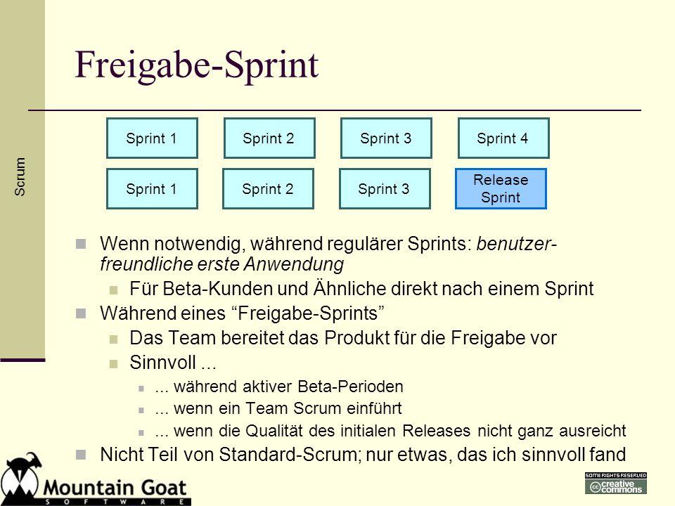Freigabe-Sprint Sprint 1. Sprint 2. Sprint 3. Sprint 4. Scrum. Sprint 1. Sprint 2. Sprint 3.