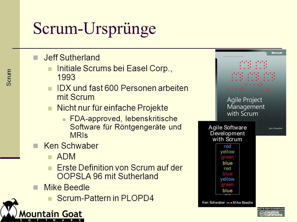Scrum-Ursprünge Jeff Sutherland Initiale Scrums bei Easel Corp., 1993