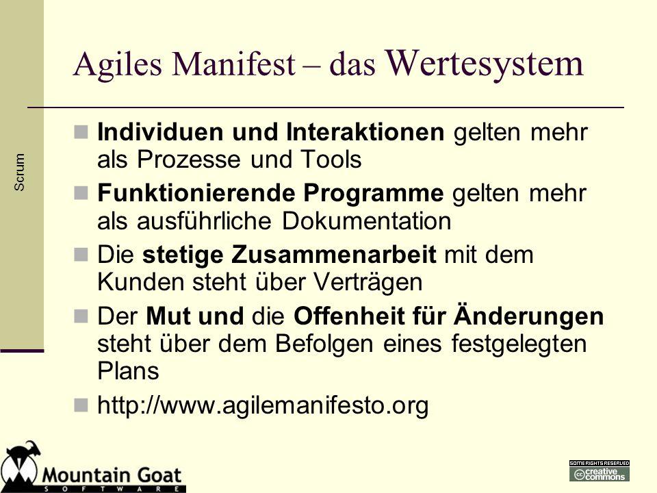Agiles Manifest – das Wertesystem