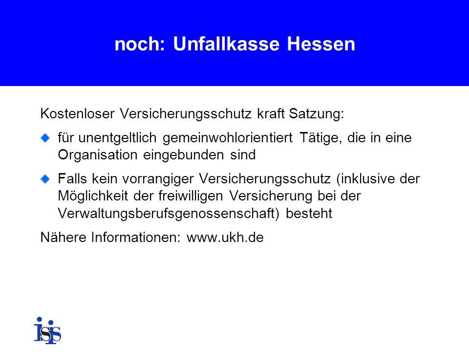 noch: Unfallkasse Hessen