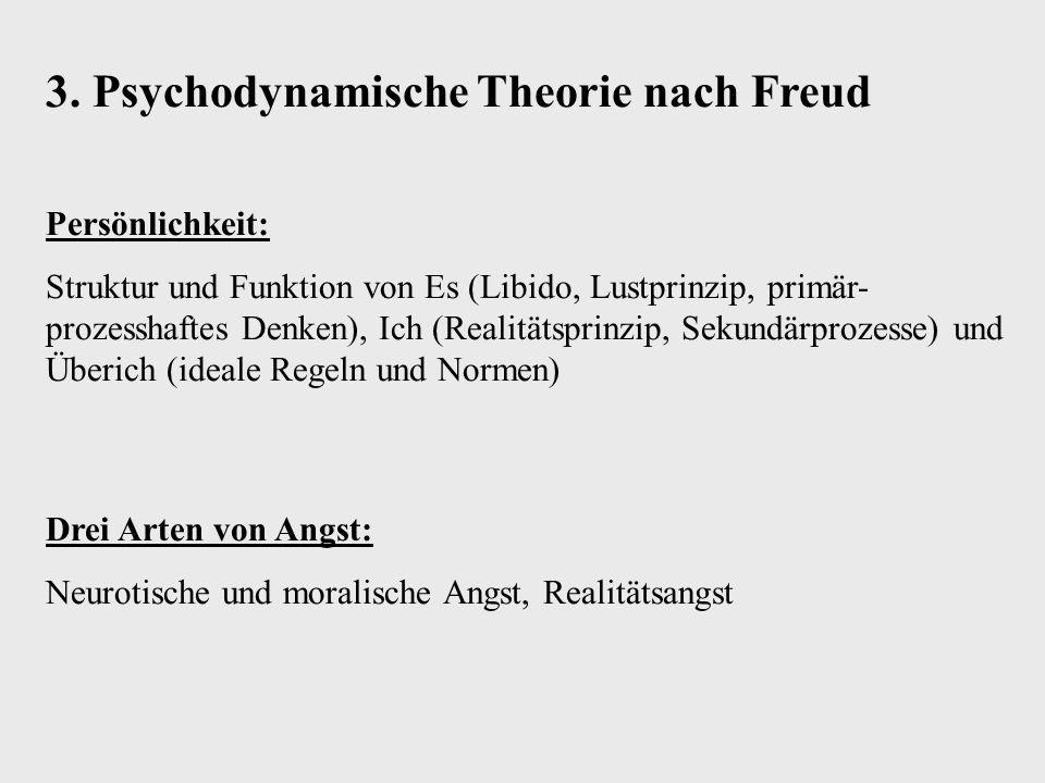 3. Psychodynamische Theorie nach Freud