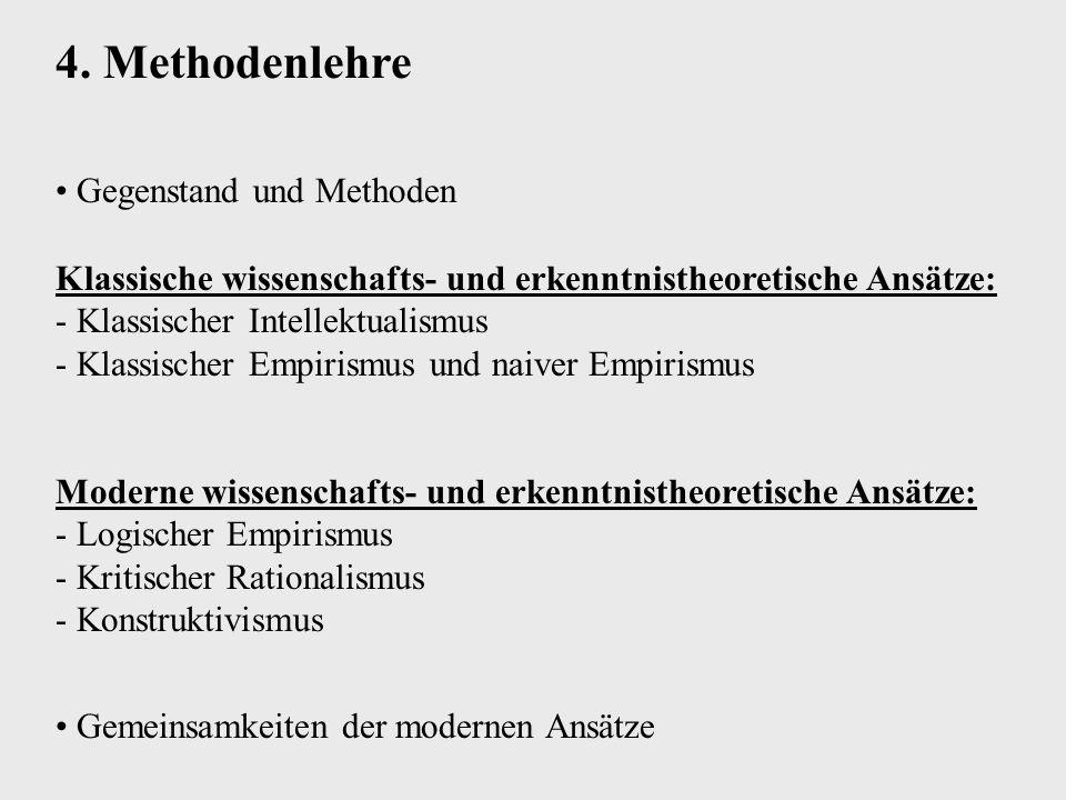 4. Methodenlehre Gegenstand und Methoden