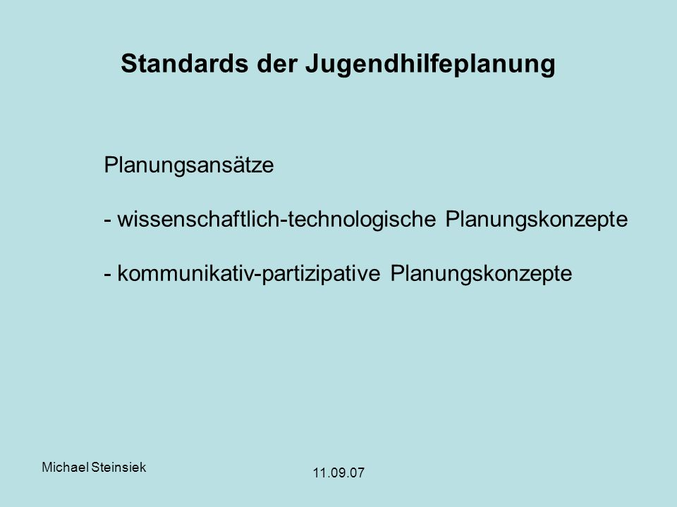 Standards der Jugendhilfeplanung