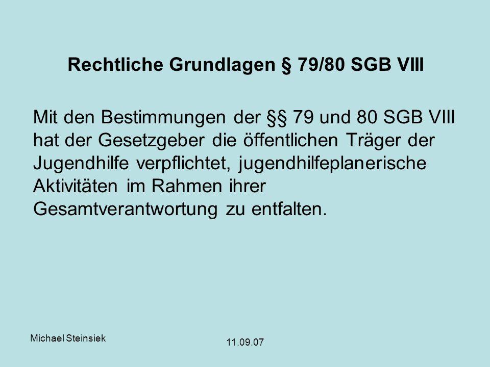 Rechtliche Grundlagen § 79/80 SGB VIII