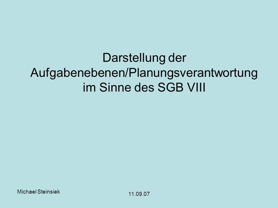 Darstellung der Aufgabenebenen/Planungsverantwortung im Sinne des SGB VIII