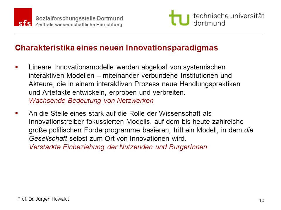 Charakteristika eines neuen Innovationsparadigmas