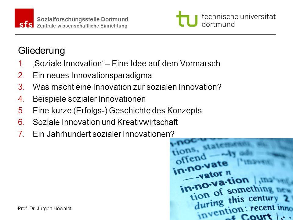 Gliederung 'Soziale Innovation' – Eine Idee auf dem Vormarsch