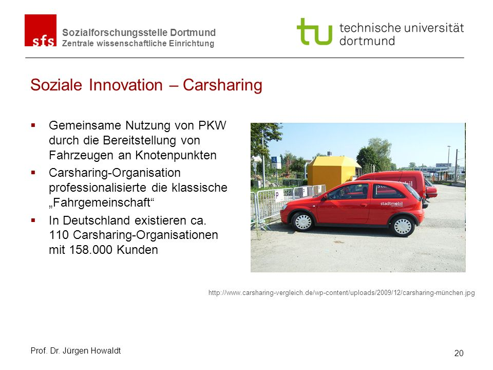 Soziale Innovation – Carsharing