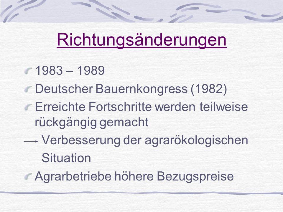 Richtungsänderungen 1983 – 1989 Deutscher Bauernkongress (1982)