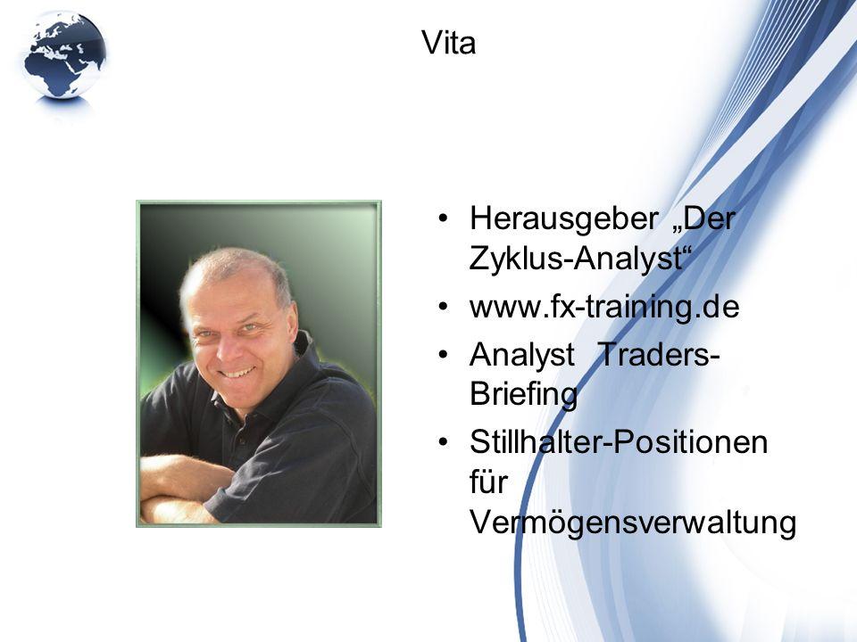 """Herausgeber """"Der Zyklus-Analyst www.fx-training.de"""