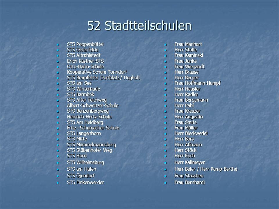 52 Stadtteilschulen STS Poppenbüttel STS Oldenfelde STS Altrahlstedt