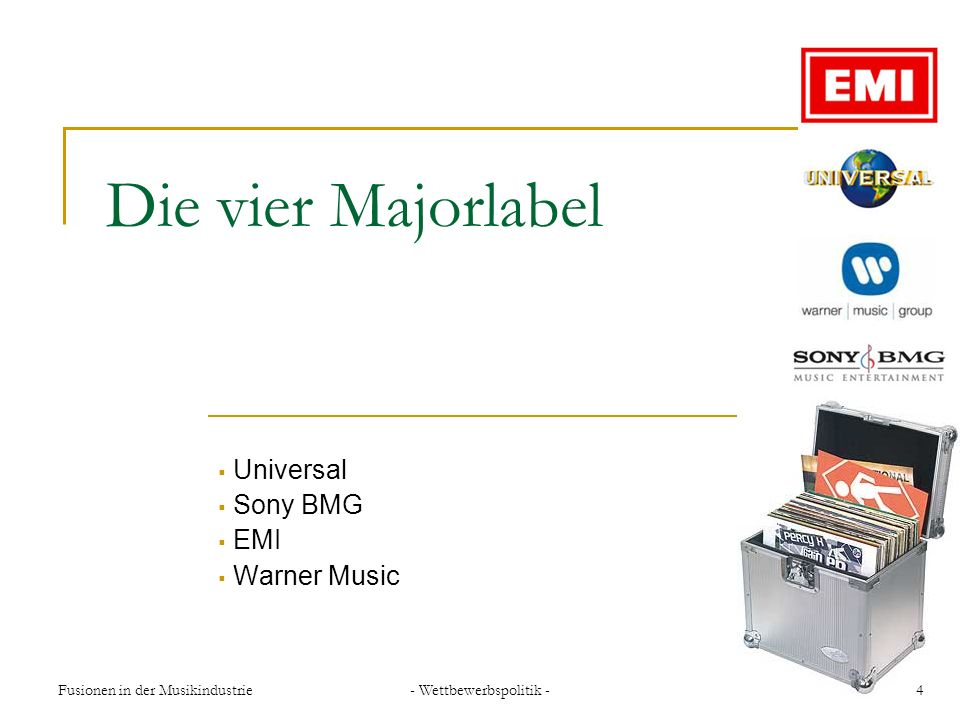 Universal Sony BMG EMI Warner Music