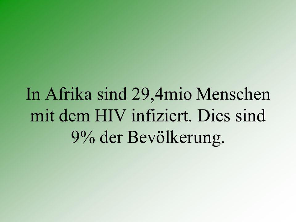 In Afrika sind 29,4mio Menschen mit dem HIV infiziert