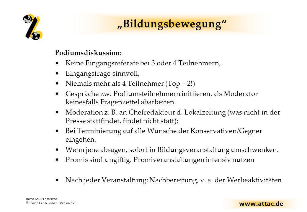 """""""Bildungsbewegung Podiumsdiskussion:"""