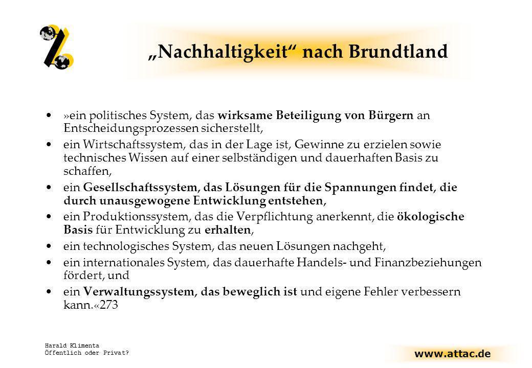 """""""Nachhaltigkeit nach Brundtland"""