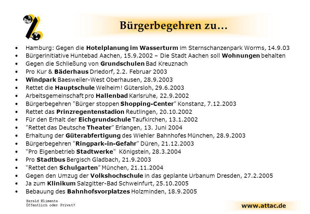 Bürgerbegehren zu… Hamburg: Gegen die Hotelplanung im Wasserturm im Sternschanzenpark Worms, 14.9.03.
