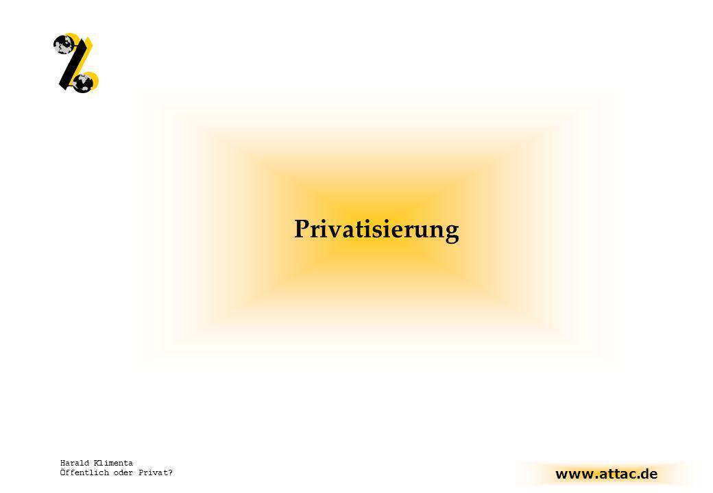 Privatisierung Harald Klimenta Öffentlich oder Privat