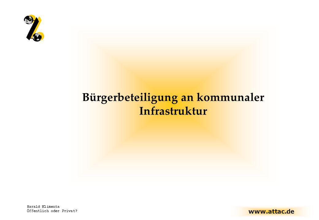 Bürgerbeteiligung an kommunaler Infrastruktur