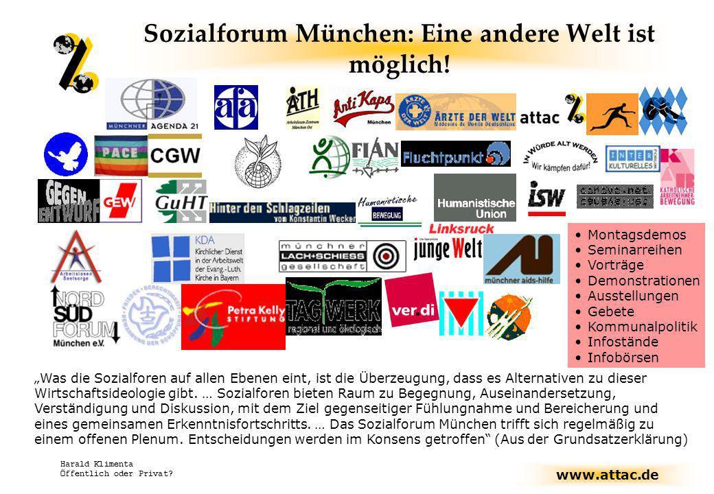Sozialforum München: Eine andere Welt ist möglich!