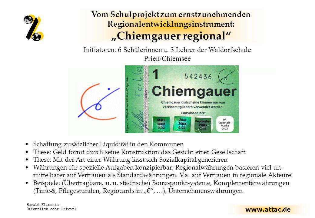 """""""Chiemgauer regional"""