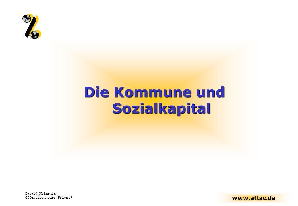 Die Kommune und Sozialkapital