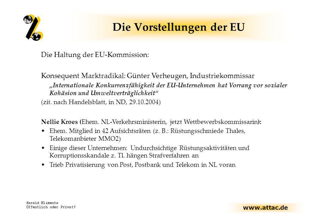 Die Vorstellungen der EU