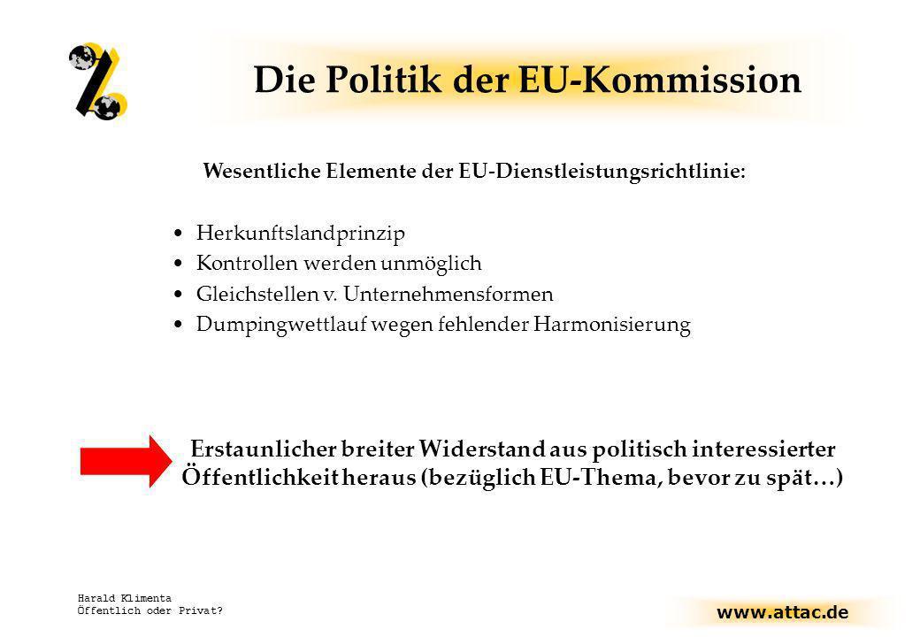 Die Politik der EU-Kommission