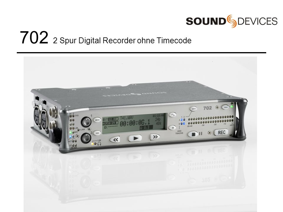 702 2 Spur Digital Recorder ohne Timecode