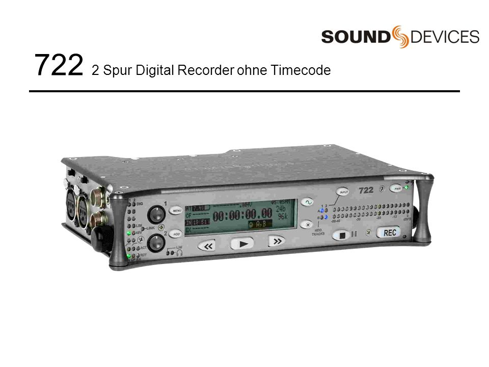 722 2 Spur Digital Recorder ohne Timecode