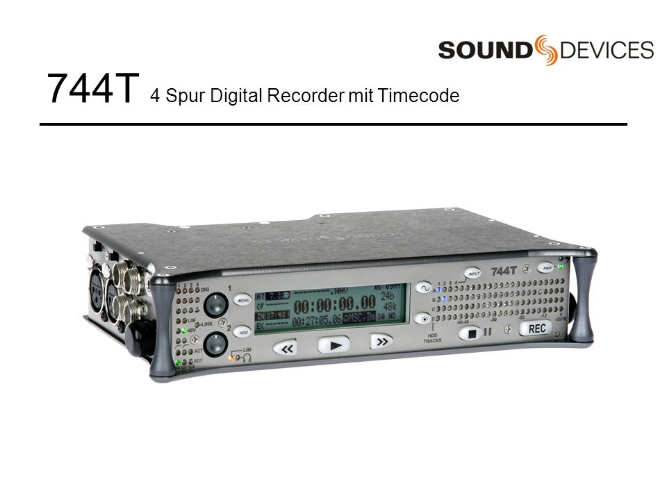 744T 4 Spur Digital Recorder mit Timecode
