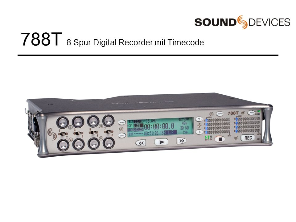 788T 8 Spur Digital Recorder mit Timecode