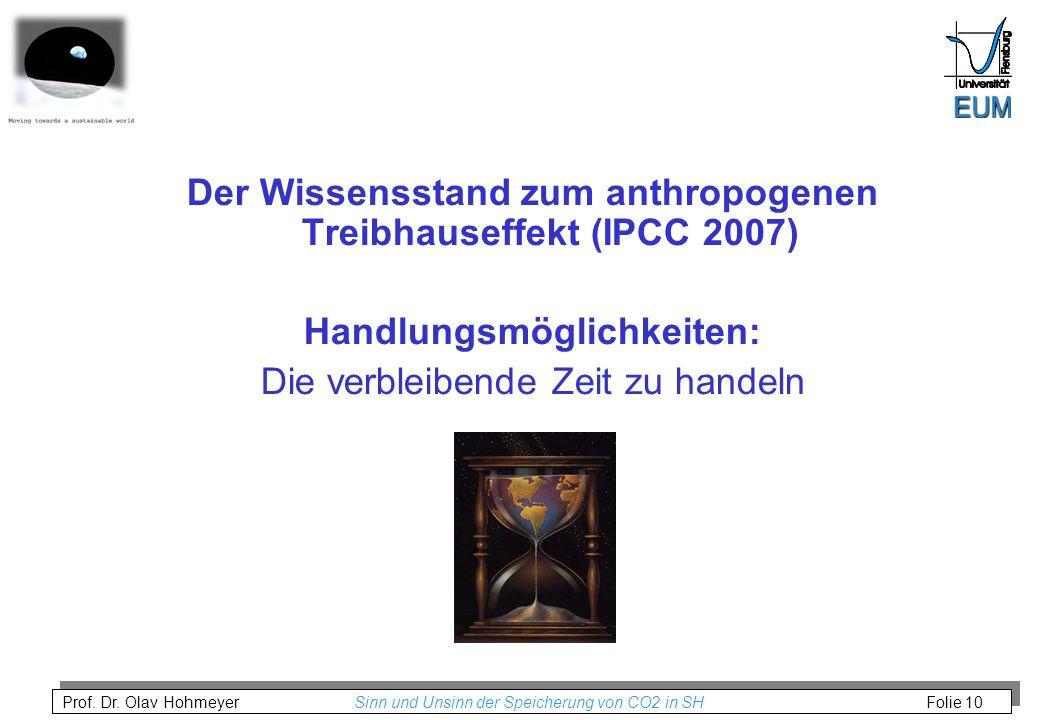 Der Wissensstand zum anthropogenen Treibhauseffekt (IPCC 2007)