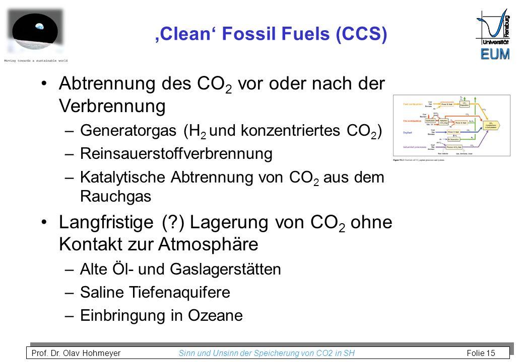 'Clean' Fossil Fuels (CCS)