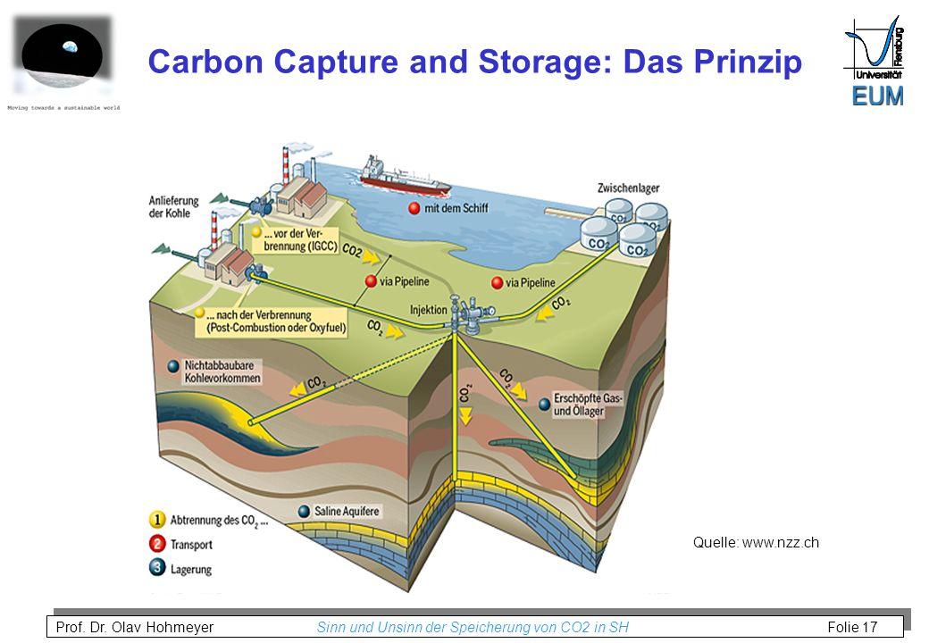 Carbon Capture and Storage: Das Prinzip