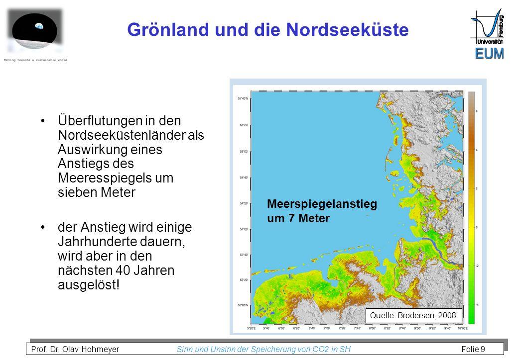 Grönland und die Nordseeküste