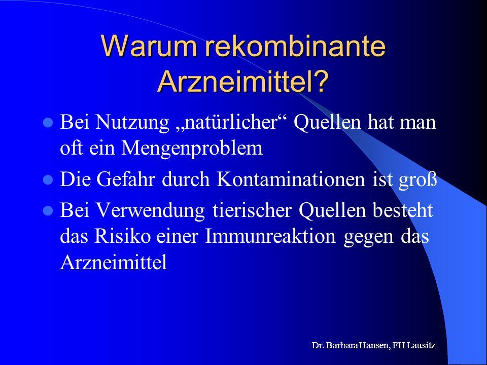 Warum rekombinante Arzneimittel