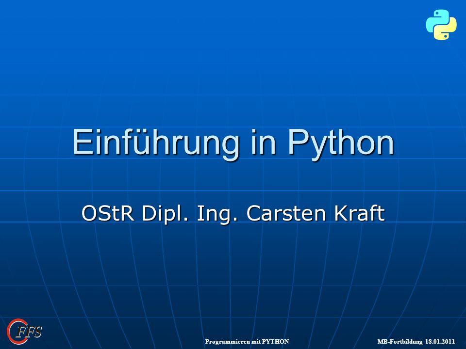 OStR Dipl. Ing. Carsten Kraft