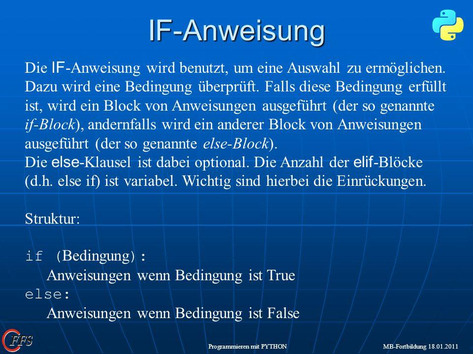 IF-Anweisung