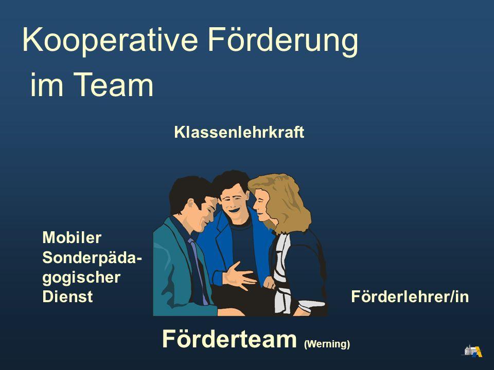 Kooperative Förderung im Team