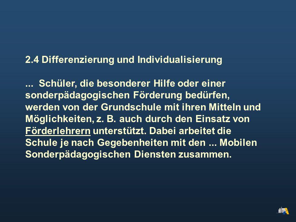 2.4 Differenzierung und Individualisierung