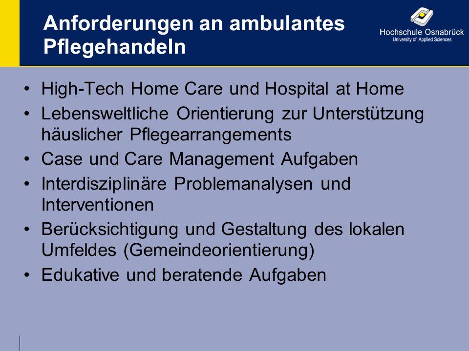 Anforderungen an ambulantes Pflegehandeln
