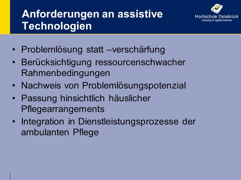 Anforderungen an assistive Technologien