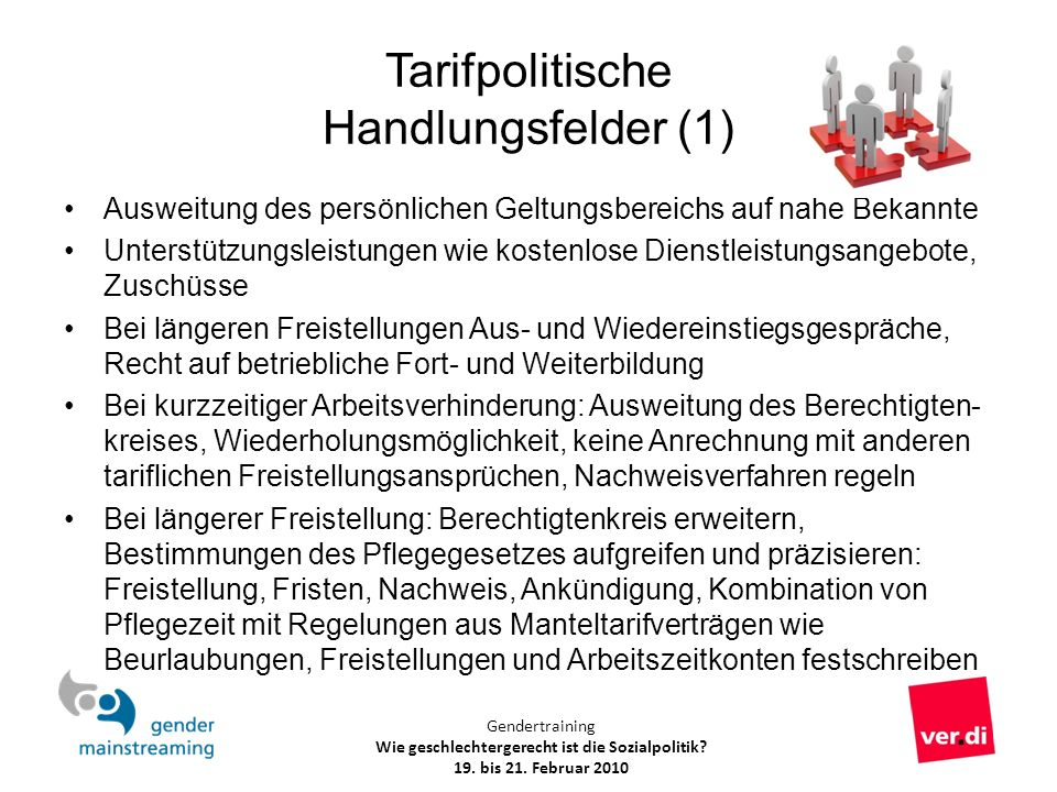Tarifpolitische Handlungsfelder (1)