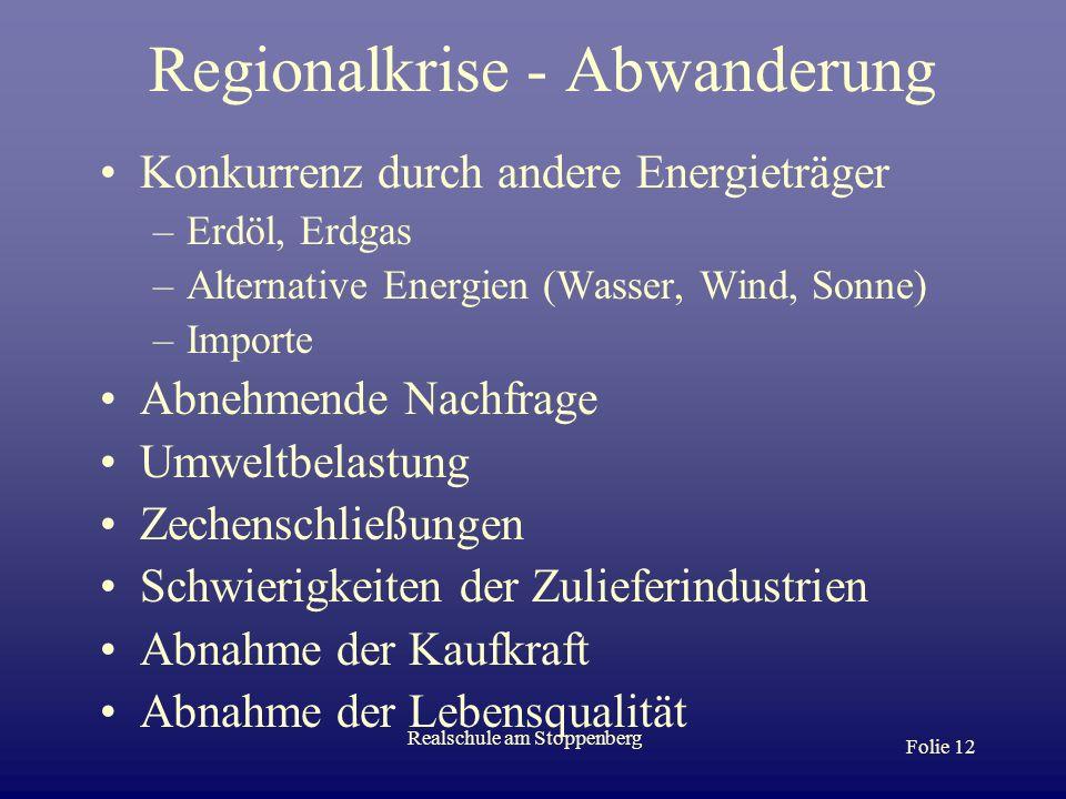 Regionalkrise - Abwanderung