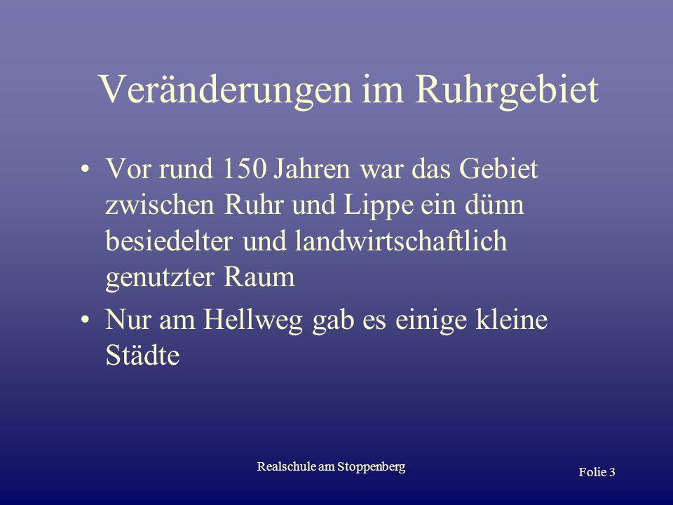 Veränderungen im Ruhrgebiet