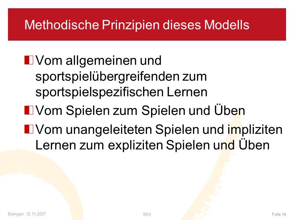 Methodische Prinzipien dieses Modells