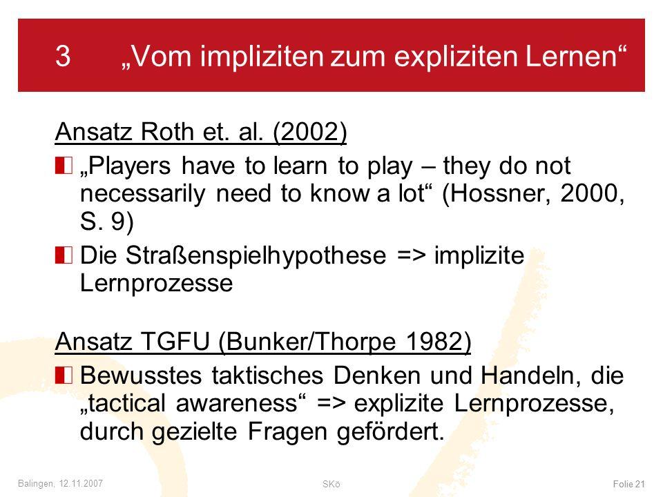 """3 """"Vom impliziten zum expliziten Lernen"""