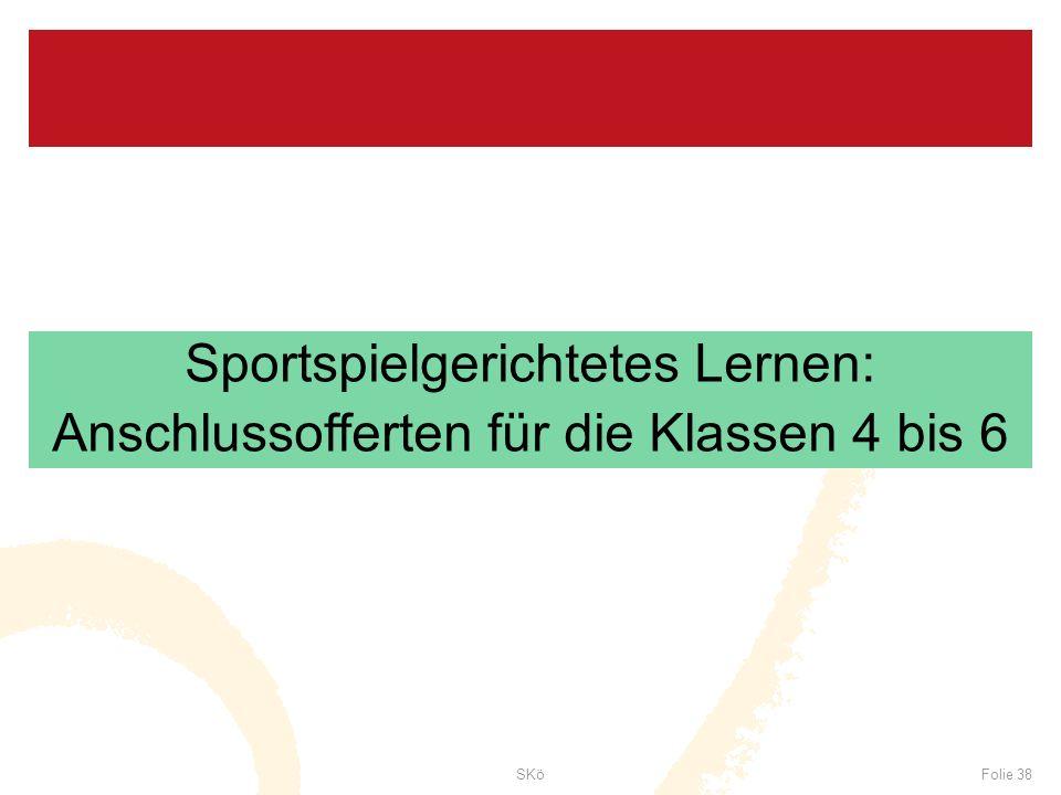 Sportspielgerichtetes Lernen: